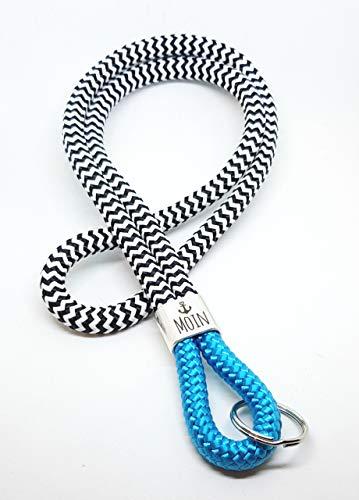Schlüsselanhänger Segelseil, Schlüsselband, Glaube Liebe Hoffnung Anker maritim segelseil/Klettseil/Leine für den Hals, zum umhängen