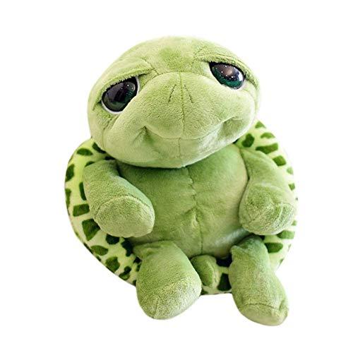 Tortuga de peluche SunEast, juguete de peluche con ojos grandes y suaves para regalo de Navidad o cumpleaños 18cm/7.08inch Green - 18cm