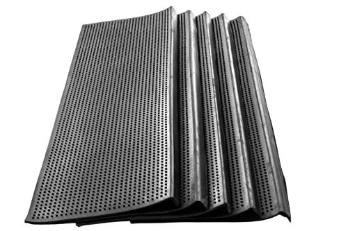 5 Stck Stufenmatte 75 x 25 cm Stairs schwarz Jet-Line außen Garten Outdoor Antirutsch Gummi Stufen Matte Treppe Sicherheitsmatte rutschhemmend Außentreppe Gartentreppe