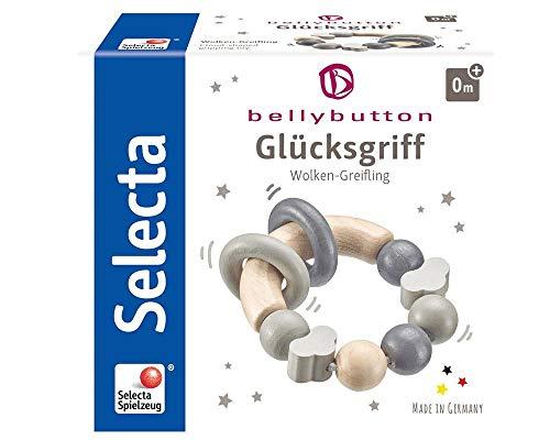 Selecta 64002 Glücksgriff, Greifling - bellybutton, grau, 7,5 cm