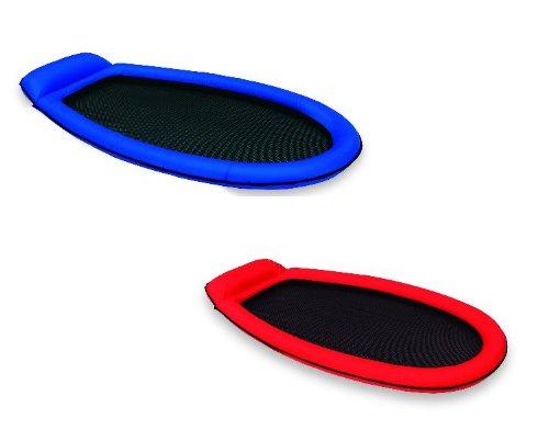 Gewebe Lounge Pool Hängematte Luftmatratze 178 x 99 cm verschiedene Farben Grün oder Orange