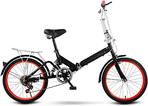 Bicicleta plegable para adultos Bicicleta plegable de acero de alto carbono Bicicletas ligeras plegadas dentro de marco aerodinámico de 20 pulgadas Mini bicicleta plegable A_20 pulgadas