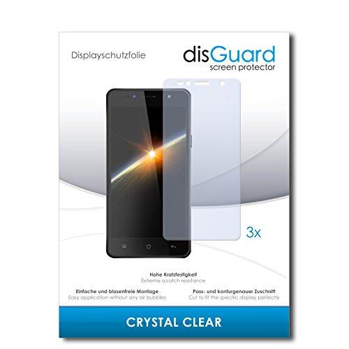 disGuard® Bildschirmschutzfolie [Crystal Clear] kompatibel mit Siswoo C55 Longbow [3 Stück] Kristallklar, Transparent, Unsichtbar, Extrem Kratzfest, Anti-Fingerabdruck - Panzerglas Folie, Schutzfolie