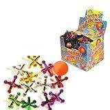 Niños juego de Jacks gigante - 13 piezas a Set - colores surtidos en bolsa de red - Ideal Bo...