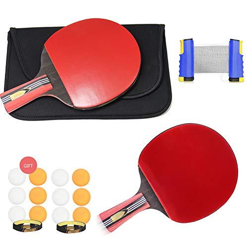 Juego De Tenis De Mesa Retráctil, Juego De Paleta De Ping Pong con Entrenamiento De Tenis De Mesa De Red Retráctil para Ejercicios De Gimnasia Al Aire Libre En Interiores