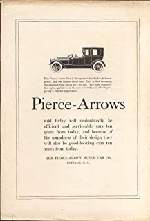 The Pierce-Arrow French Brougham 6-cylinder ad 1918