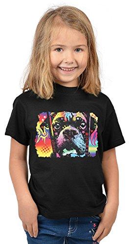 Boxer Kinder Tshirt - Hunde-Motiv Kindershirt - Hundemotiv : Choose Adoption Boxer - Kunstmotiv buntes Hunde-Shirt Kind Gr: S = 122-128