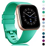 RIOROO Bands Compatible with Fitbit Versa/Fitbit Versa 2/Fitbit Versa Lite Strap Versa Accessories Women Men Soft Silicone Replacement Sport Fitness Wristband for Fitbit Versa Smart Watch