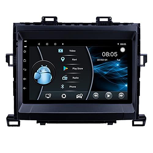AEBDF Android 10 Sat Nav para Toyota Alphard/VELLFIRE 2010-2014, 9 Pulgadas Coche Estéreo Radio Táctil GPS Navegación WiFi Mirror Link,4Core WiFi 1+16G