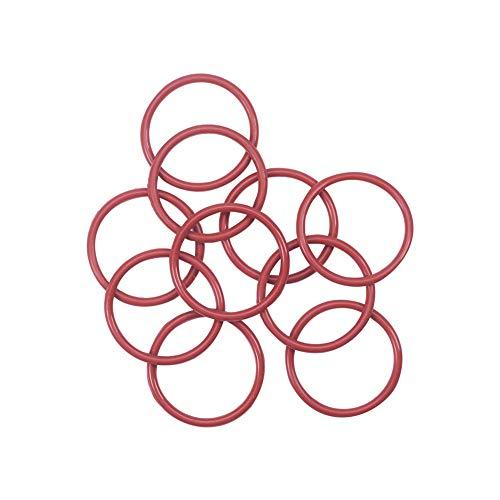 Othmro - Junta tórica de silicona roja, 45 mm de diámetro exterior, 3,5 mm de ancho, junta de sellado de aceite, junta sanitaria de repuesto para licuadora, kit de refresco de...