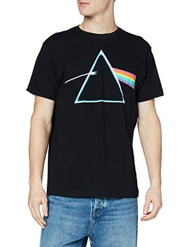 Unknown - Camiseta de Manga Corta para Hombre con Prisma de Lado Oscuro Negro Negro (Black Blk) M