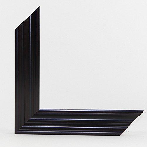 OLIMP-08 Bilderrahmen 95x33 cm Echtholz Barock in Farbe Schwarz Halbglänzend