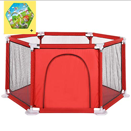 Hexagon Babies Safety Protective Playpen Home Castle Play Room Indoor & Outdoor Sea Ball Pool Playpen with Crawling Mat