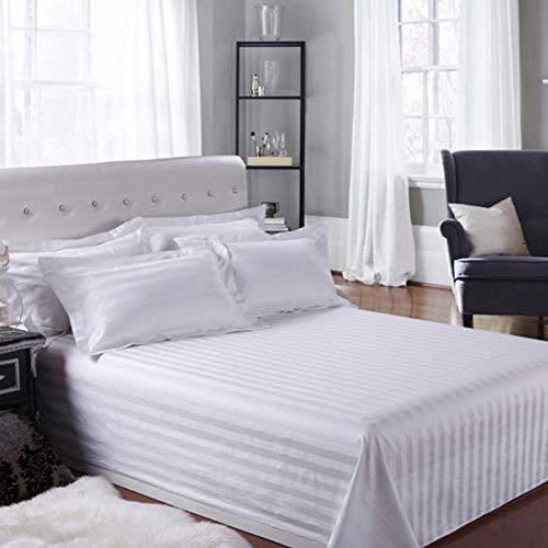 N/ A SGDONG wit hotel satijn vlak laken katoen effen strepen dagdeken bedlaken (kussensloop is niet inbegrepen.