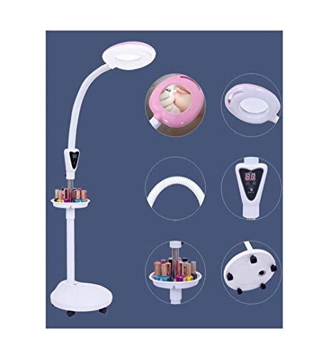 Aocean Luz LED para Lectura, Belleza, lámpara de pestañas de Belleza, lámpara LED sin Sombras de luz fría, Rosa, lámpara de Lupa de Mesa