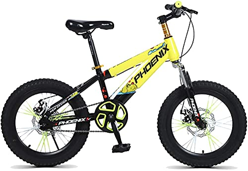 YAOJIA strider kids bike 18/20 Inches Kids Bike With Training Wheels | 7-14 Years Old Boy Mountain Bike,Adjustable Seat 3 Colors Bicycle (Color : C, Size : 18in)
