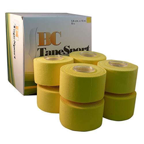 BC Sport Tape Caja de 8 rollos 3,8 cm x 10 m (Amarillo)
