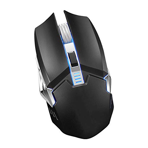 Borlai Upgrade 2.4GHz draadloze muis Six-key muis met licht effect voor Laptop PC Computers