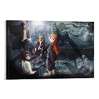 BLEACHアニメポスター装飾画キャンバスアート絵画リビングルーム壁画寝室装飾ポスター16×24インチ(40×60cm)