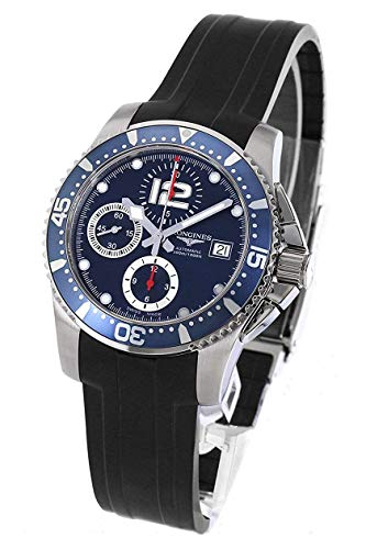 Longines Hydroconquest Automatic Chronograph Steel Mens Watch Blue Dial L3.644.4.96.2