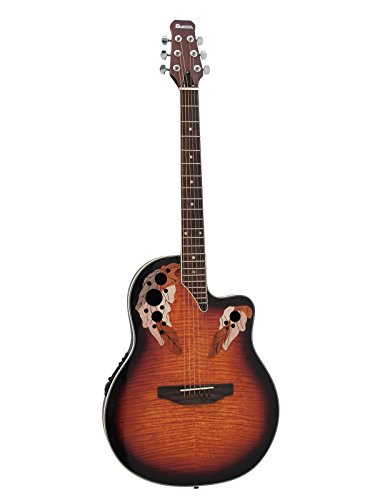 showking Westerngitarre ROUNDBACK mit Piezo - Tonabnehmer, Sunburst - Country Gitarre mit Round Back/Folk Gitarre für erfahrene Rock Gitarristen