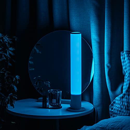 YHYYU Luz de Noche LED Lámpara de Mesita de Noche Táctil Recargable, Lámpara de Noche con Cambio de Color RGB Regulable para Niños, Dormitorio, Camping