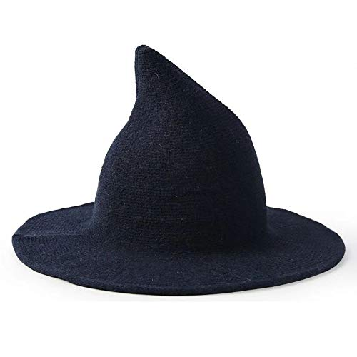 TTzone Knitted Wool Hat, Witch Hat for Halloween Party Cosplay and Daily (Blue)
