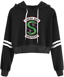 OLIPHEE Sudaderas Primavera con Logo de Valle de Riverdale para Mujer para Mujer 5758heiS-2