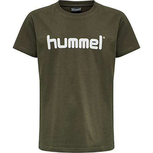 HUMMEL GO KIDS COTTON LOGO T-SHIRT S/S, GRAPE LEAF, 140