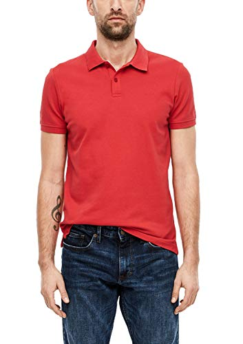 s.Oliver 13.001.35.5268 Polo, Rosso (Red 3250), Large Uomo