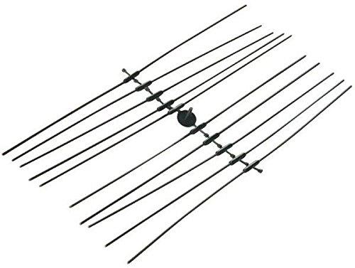 100, 24Long Duraline 24Long Heavy Duty UV Black Cable Ties 100//PK 175Lbs Test