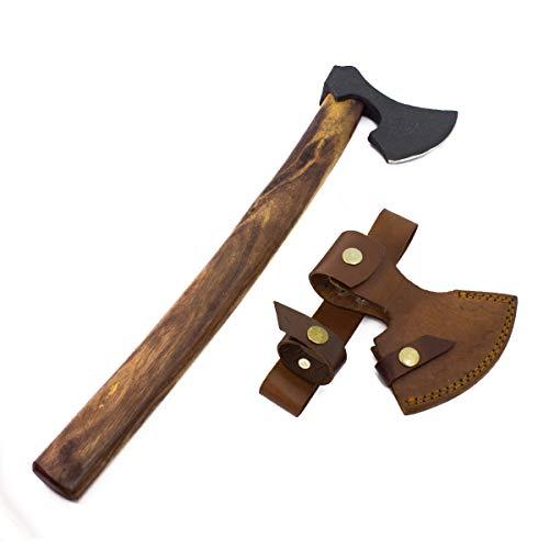 Norwegische Wikinger Wurfaxt inkl. Lederscheide 47cm