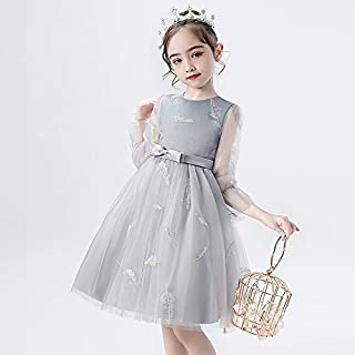 NA Girls Dress Long Sleeve 2020 Spring and Autumn Foreign Style Children's Fluffy Gown Dress Skirt Little Girl lace Princess Skirt