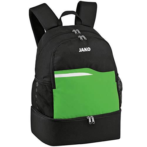 JAKO Competition 2.0 Rucksack, schwarz/Soft Green, 34x24x48 cm