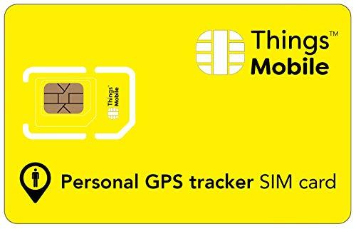 SIM-Karte für PERSÖNLICHEN GPS TRACKER - Things Mobile - mit weltweiter Netzabdeckung und Mehrfachanbieternetz GSM/2G/3G/4G. Ohne Fixkosten und ohne Verfallsdatum. 10 € Guthaben inklusive