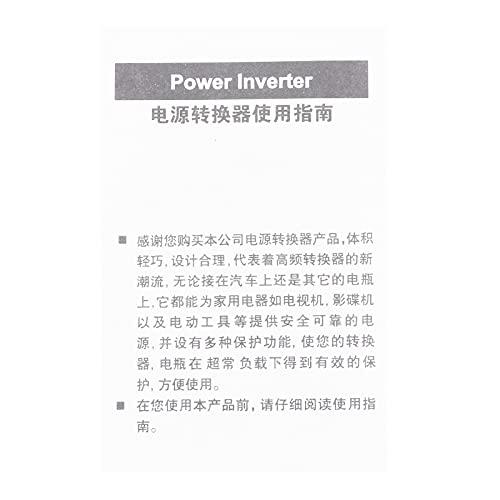 Inversor de corriente, convertidor de onda sinusoidal, DC 12V a AC 220V Pantalla LCD solar para computadora portátil Accesorio para automóvil con ventilador de enfriamiento incorporado