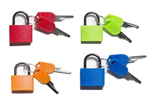 Vorhängeschloss-Sicherheit Sperren bunt 4 Kombination Sicherheit Vorhängeschlösser mit Schlüssel (Vorhängeschloss Mit Schlüssel)