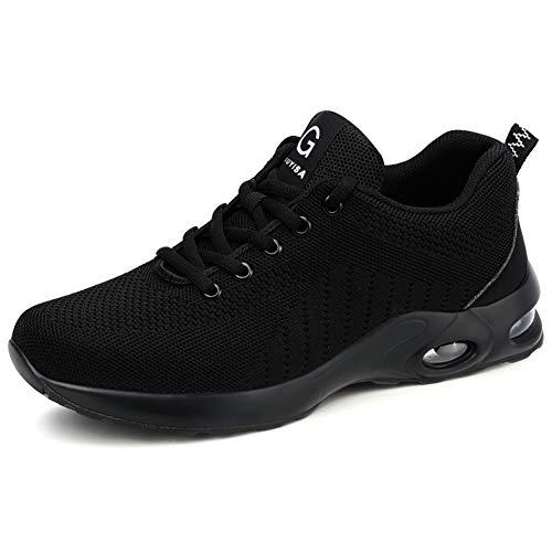 Zapatos de Seguridad Hombres Cómodo Zapatos de Trabajo Zapatillas con Punta de Acero...