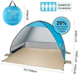 G4Free Outdoor Automatic Pop up Instant Portable Cabana Beach Tent 2-3 Person Camping Fishing Hiking Picnicing...
