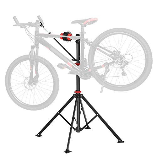 Fahrradmontageständer Schwarz-Rot