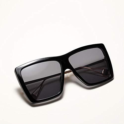 Siyse Sonnenbrille Big Box PersöNlichkeit Retro Sonnenbrille Frauen MäNnlich Leopardenmuster Hip Hop-A