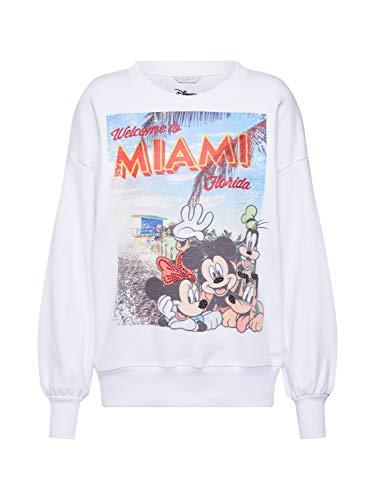 FROGBOX Damen Sweatshirt Miamy Mickey weiß M