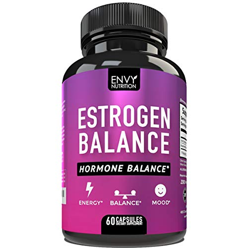 Estrogen Balance with DIM for Women - Menopause Relief, Estrogen Blocker and Hormonal Acne Treatment: Plus BioPerine 5mg, 60 Day Supply
