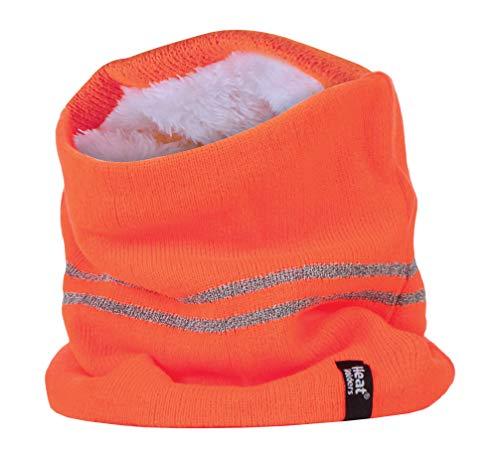 HEAT HOLDERS - Uomo Lavoro Invernale Hi Vis Termico Colorati Morbidi Confortevole Sportivo Caldo Scaldacollo/Sciarpe (One size, Hi Vis Orange)