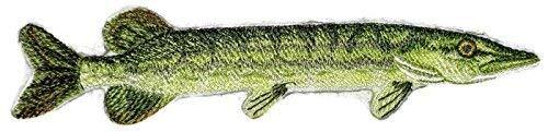 BeyondVision Die Prämie der Natur schönen Brauch Fisch Portraits Eisen Nähen Patches bestickt 6.86x2 weiß, schwarz, grün