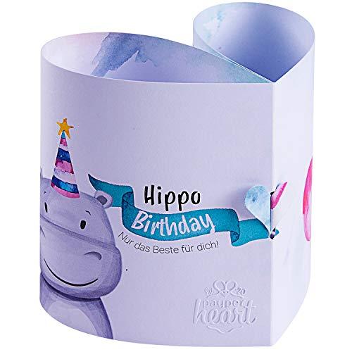 Original Payperheart Fröhliche Geburtstagskarte | Pop Up Karte Geburtstag | Besonderes Geburtstagsgeschenk | 1x Karte + 1x Umschlag