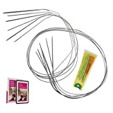 KnitPal 47-inch (120cm) Magic Loop Sock Circular Knitting Needles Set of 6 Small Sizes: 0,1,1.5,2,3, and 4 (2,2.25,2.5,2.75,3.25 and 3.5mm)
