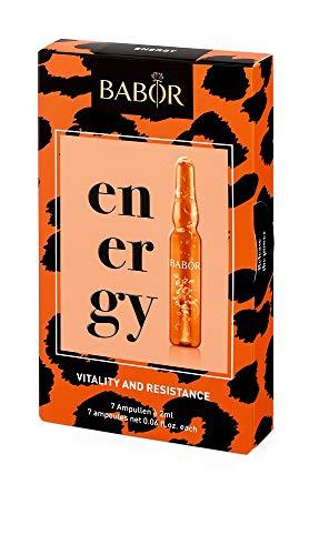 BABOR AMPOULE CONCENTRATES ENERGY, zur Stärkung und Regeneration der müden Haut, mit Plankton-Algen-Extrakten, vegan, 7 x 2 ml