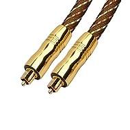 REALMAX Toslink Cable 1m 2m 3m 4m 5m 10m Digital Fiber Optical Male to Male Lead Audio Premium Quali...