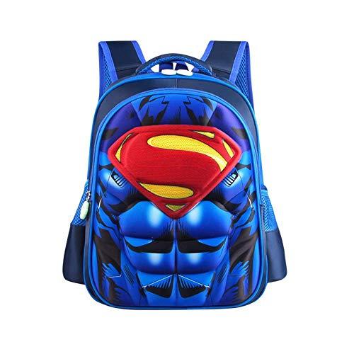 SFBBBO Cartable Fille GarçOn Cartable Superman Batman America Enfants Maternelle Sac D